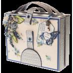 Открытка чемоданчик Голубая