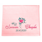 Льняное Полотенце Розовое