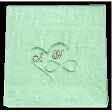 Льняная Салфетка Зелёная