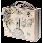 Открытка чемоданчик Бежевая
