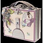 Открытка чемоданчик Сиреневая