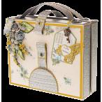 Открытка чемоданчик Жёлтая