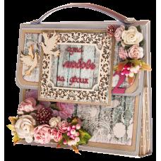 Открытка сумочка Бежевая