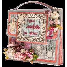 Открытка сумочка Розовая