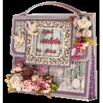 Открытка сумочка Сиреневая