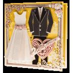Открытка муж жена Жёлтая